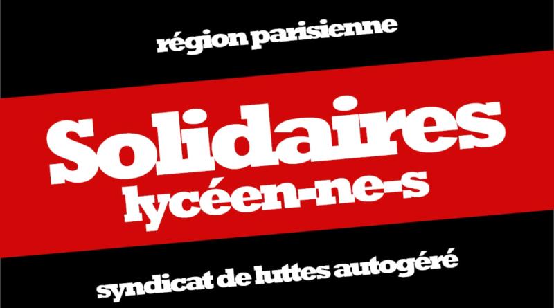 Solidaires lycéen.ne.s : Crise sanitaire : leur réponse est autoritaire, la nôtre sera solidaire.